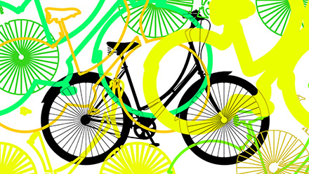 Bike Silhouette with colours.